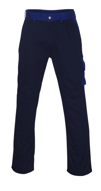 MASCOT® Torino - Marine/Bleu roi - Pantalon avec poches genouillères, haute solidité