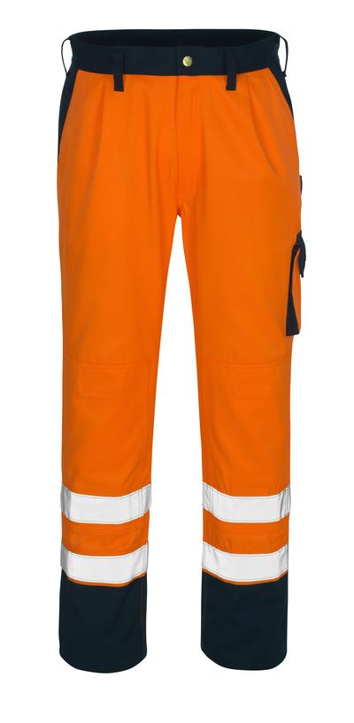 MASCOT® Torino - Hi-vis orange/Marine* - Pantalon avec poches genouillères, classe 1/2