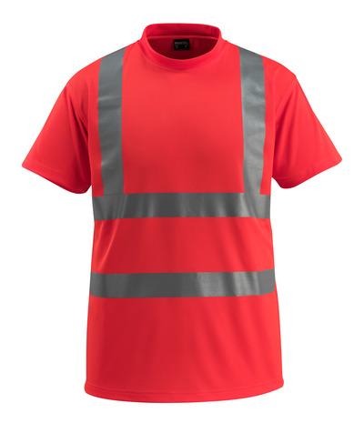 MASCOT® Townsville - Hi-vis rouge - T-shirt, coupe classique, classe 2