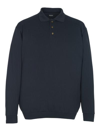 MASCOT® Trinidad - Marine foncé - Sweatshirt polo, coupe classique