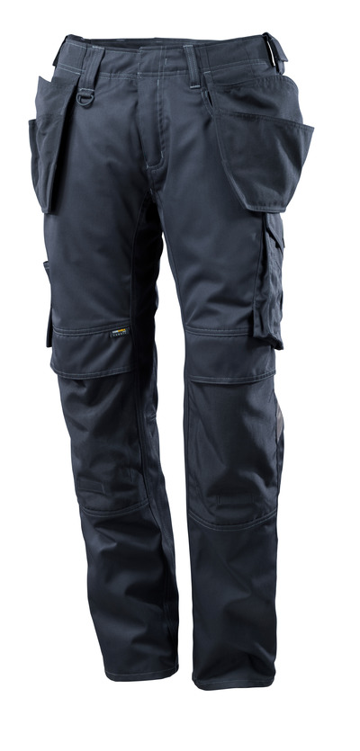 MASCOT® UNIQUE - Marine foncé - Pantalon avec poches genouillères et poches flottantes en CORDURA®, poids léger