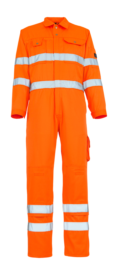 MASCOT® Utah - Hi-vis orange - Combinaison avec poches genouillères, classe 3