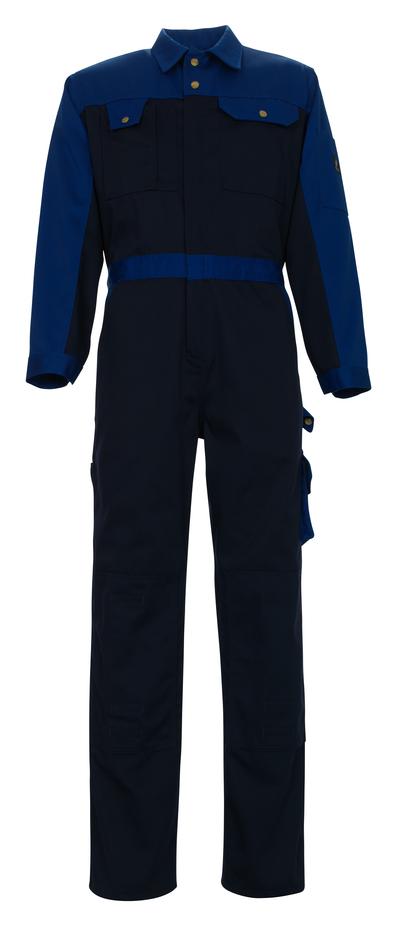 MASCOT® Verona - Marine/Bleu roi - Combinaison avec poches genouillères, haute solidité