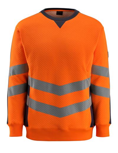 MASCOT® Wigton - Hi-vis orange/Marine foncé - Sweatshirt, coupe moderne, classe 3