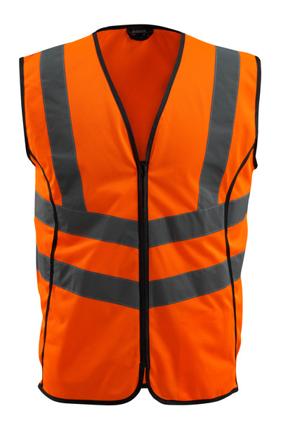 MASCOT® Wingate - Hi-vis orange - Gilet de circulation avec zip, classe 2