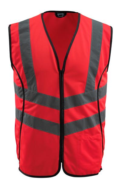 MASCOT® Wingate - Hi-vis rouge - Gilet de circulation avec zip, classe 2