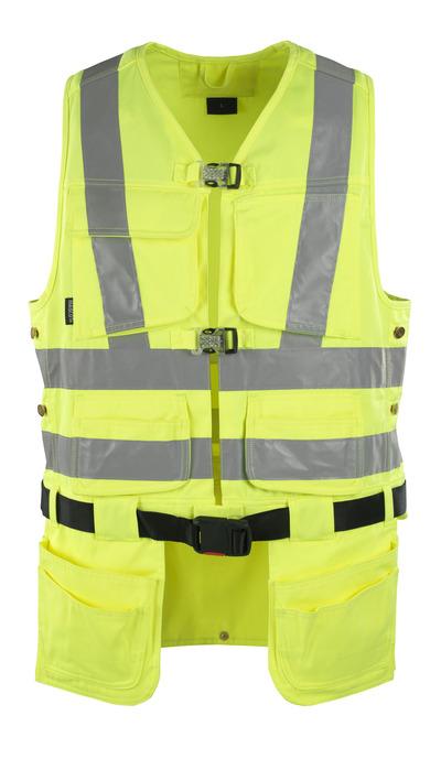 MASCOT® Yorkton - Hi-vis jaune - Gilet porte-outils avec quatre poches flottantes, classe 2/2