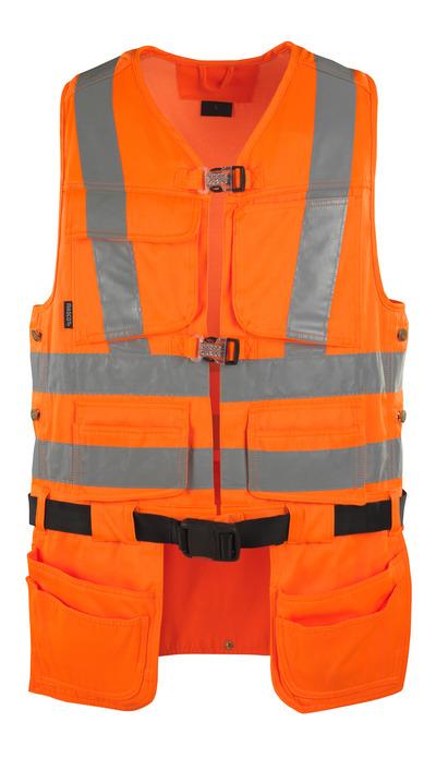 MASCOT® Yorkton - Hi-vis orange - Gilet porte-outils avec quatre poches flottantes, classe 2/2
