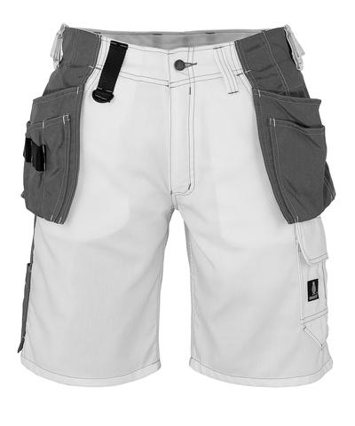 MASCOT® Zafra - Blanc - Short avec poches flottantes en CORDURA®, poids léger