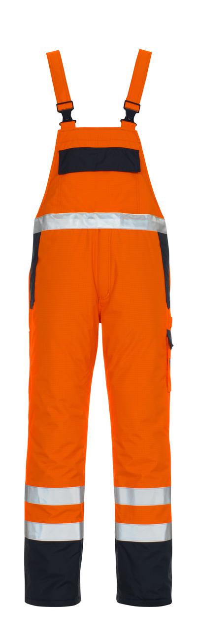 MASCOT® Zug - Hi-vis orange/Marine* - Salopette avec doublure, multiprotection, imperméable classe 2/2